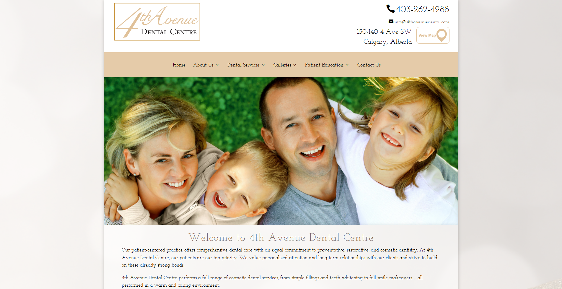 4th Avenue Dental Centre | vancouver dental website