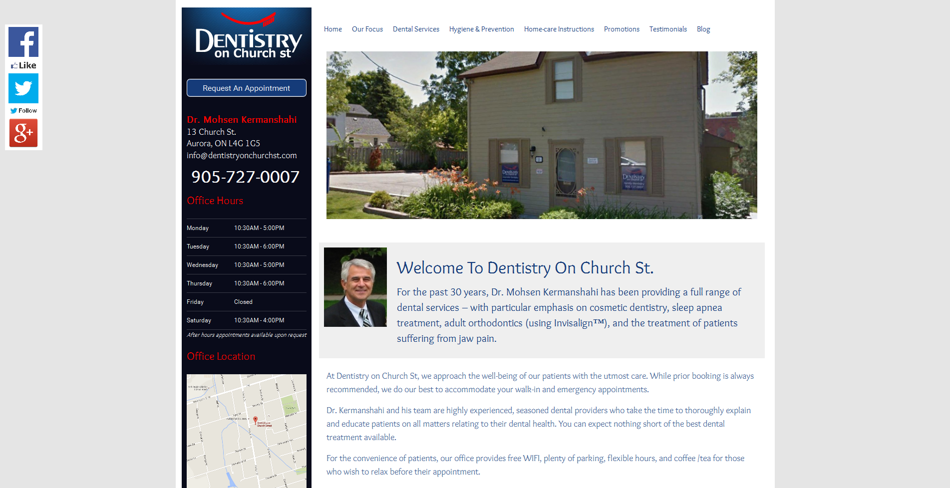 Dentistry on Church St | vancouver dental website