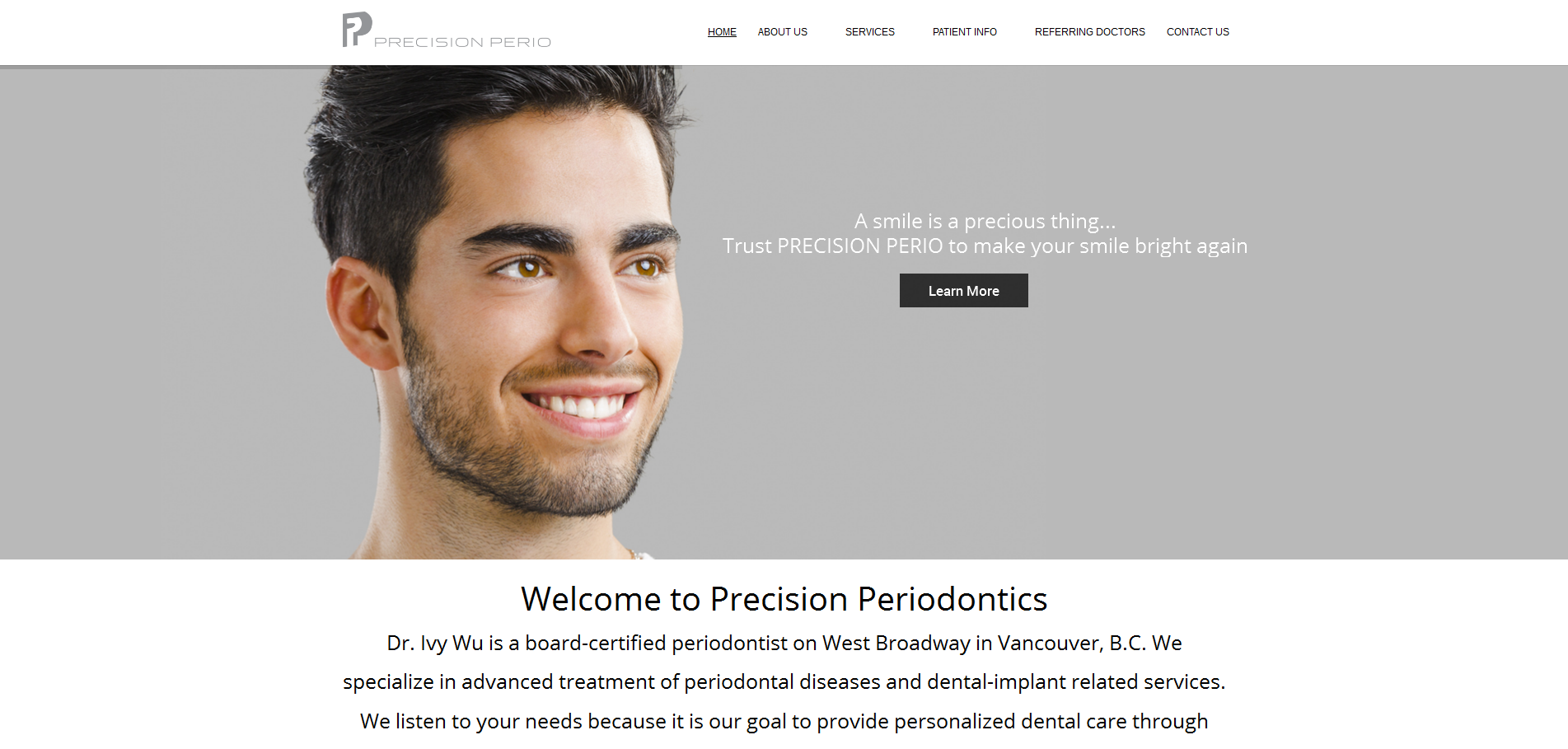 Precision Periodontics | vancouver dental website
