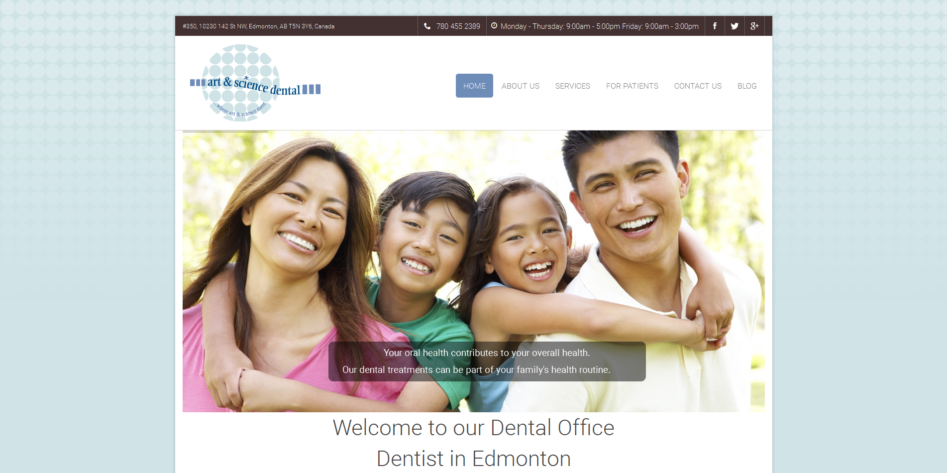 art and science | vancouver dental website