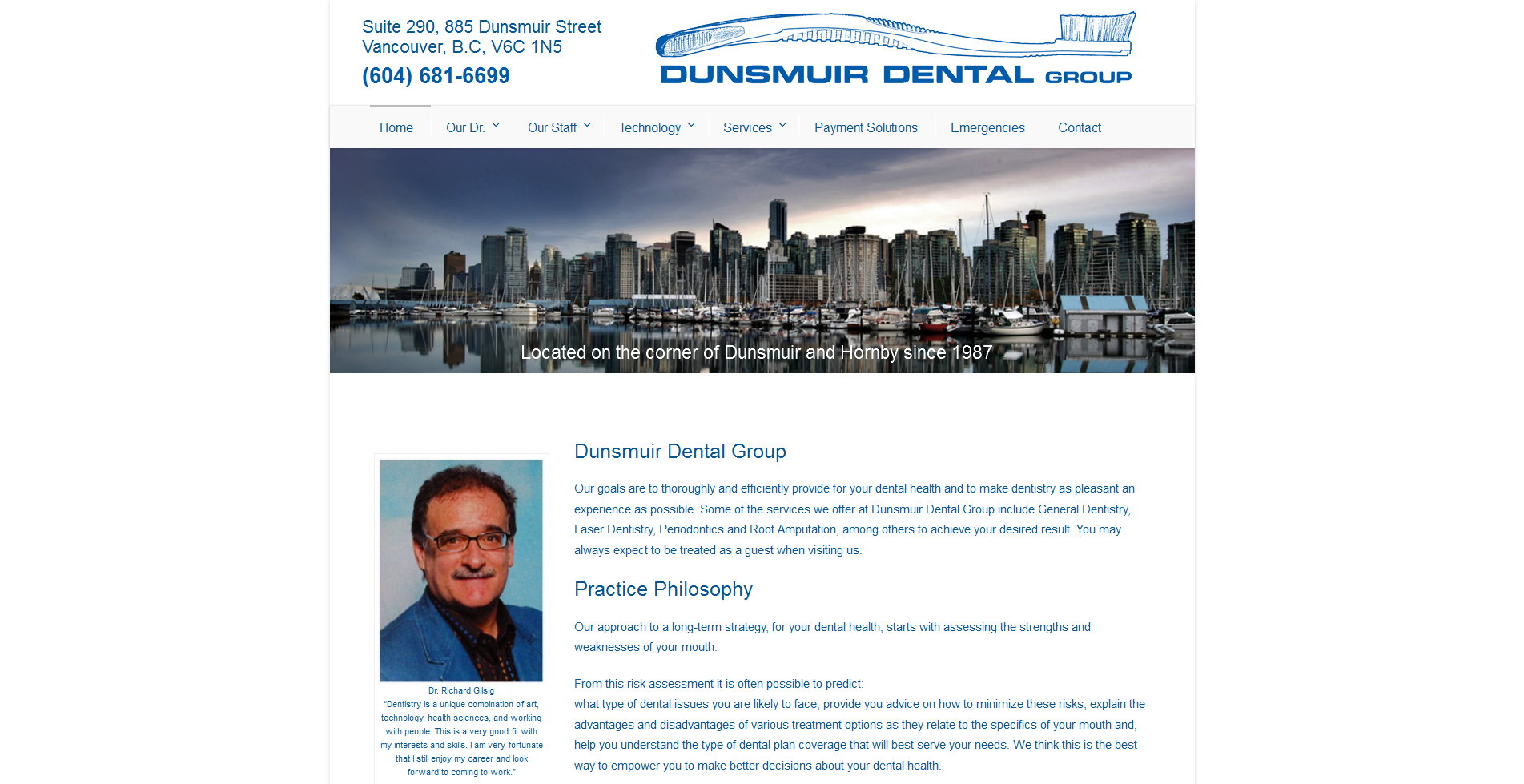 dunsmuir dental | vancouver dental website