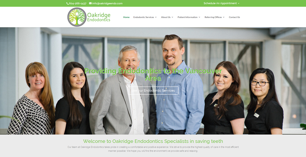 Oakridge Endodontics  | vancouver dental website
